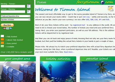 Click here for Ferry Tioman